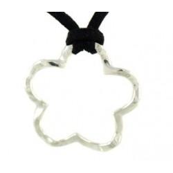 Petit pendentif forme fleur en argent - Différentes tailles et prix