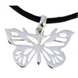 Pendentif forme papillon en argent