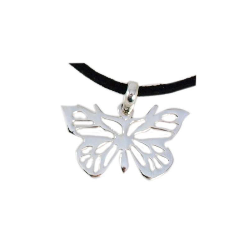 Pendentif papillon en argent
