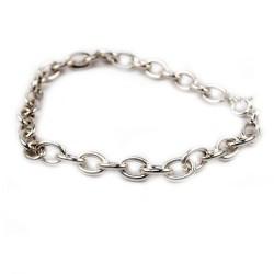 Bracelet en argent maille épaisse