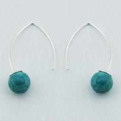 Boucles d'oreilles originales turquoise