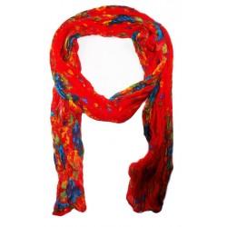 Foulard en coton, rouge