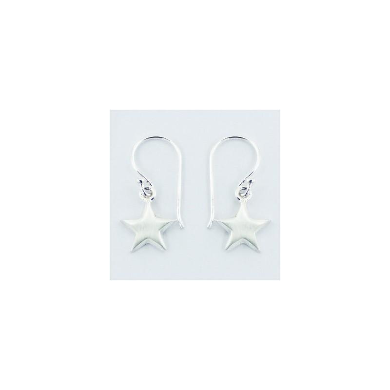 Boucles d'oreilles étoiles en argent