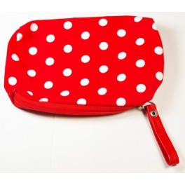 Pochette pois blancs divers coloris
