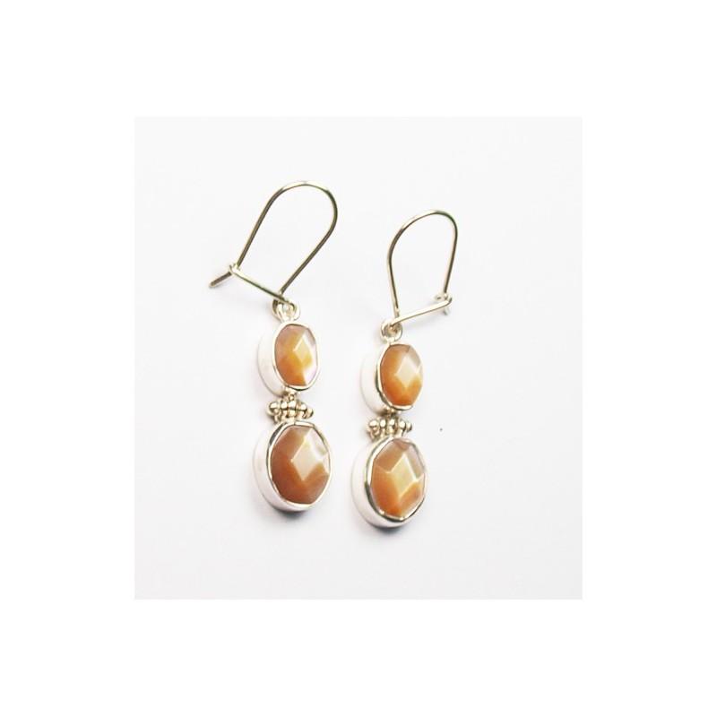 Boucles d'oreilles perle et argent