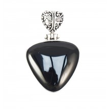 triangular black pendant