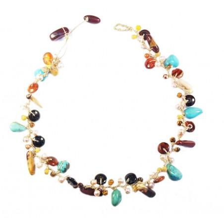 short stone necklace