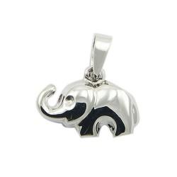 Pendentif en argent forme éléphant