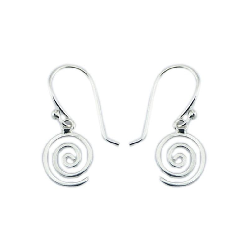 Boucles d'oreilles spirale en argent