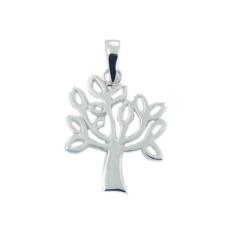 Pendentif arbre en argent avec attache
