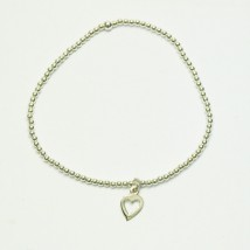 Bracelet en argent breloque coeur