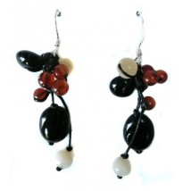 earrings natural stones