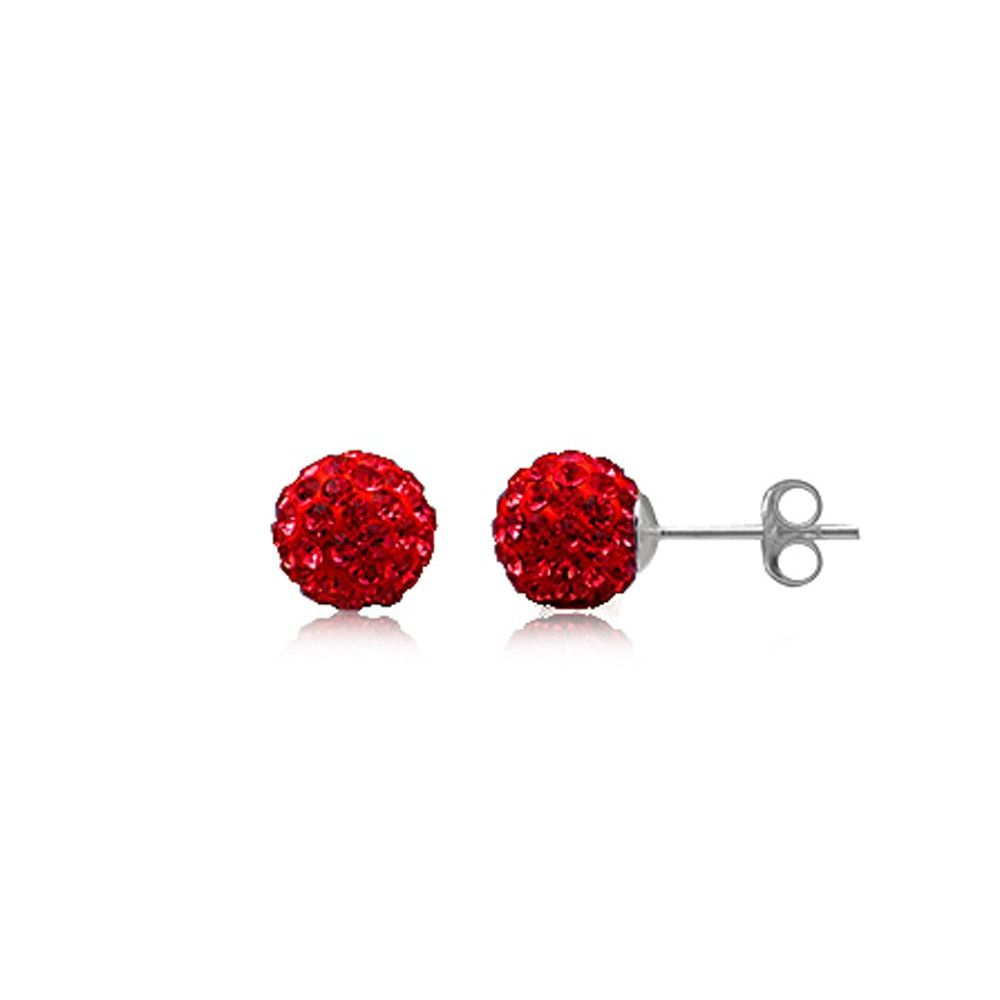 boucle oreille rouge