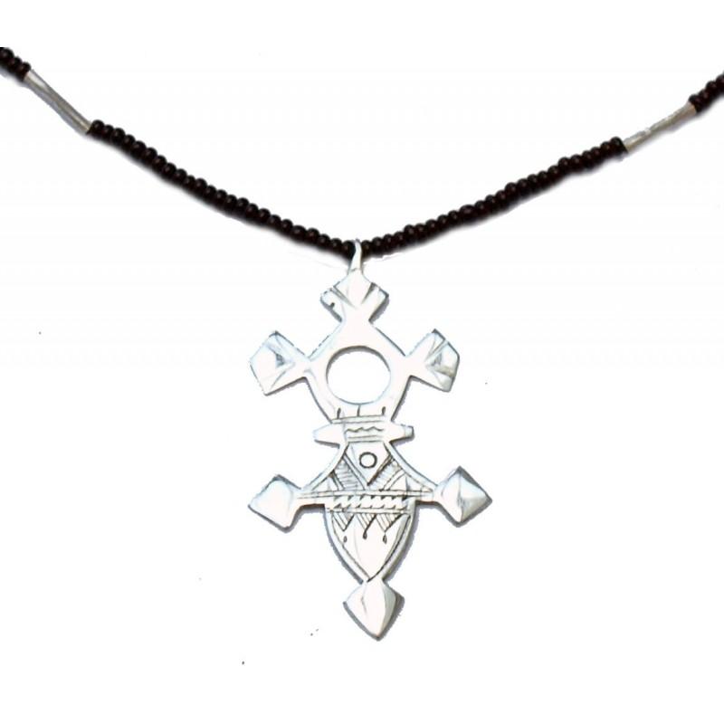 Collier croix du niger abalak toureg en argent