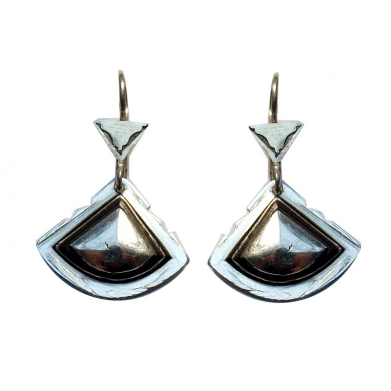 Boucles d'oreilles touareg triangle en argent