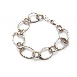 Bracelet en argent anneaux