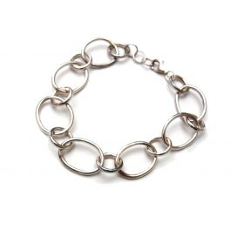 Bracelet en argent maille aneaux