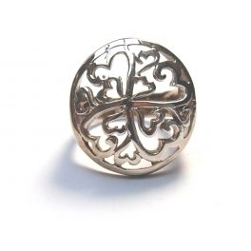 Silver ring arabesque - T54