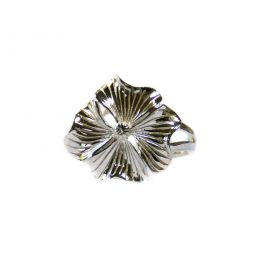 Silver flower ring -T54 réglable