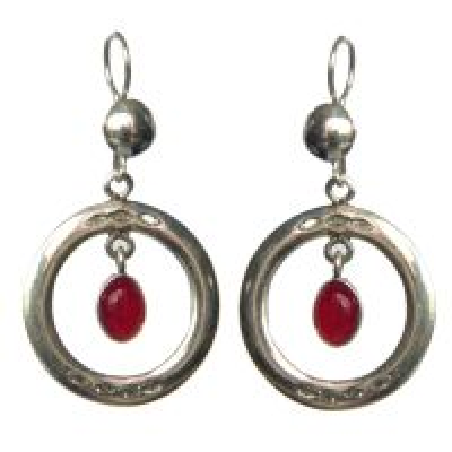 Boucles d'oreilles touareg ronde perle
