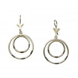 Boucles d'oreille touareg en argent, forme cercles