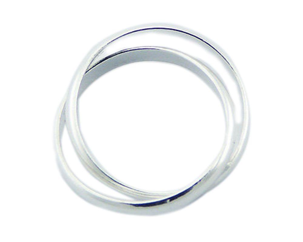 Bague homme 2 anneaux