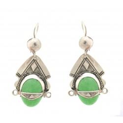 boucles d'oreilles déesse verte