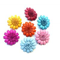 Broche marguerite en cuir coloré - Divers coloris
