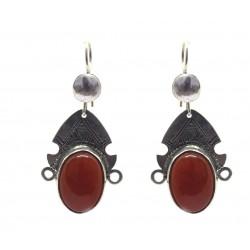 boucles d'oreille déesse touareg rouge