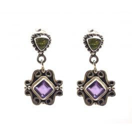 ear studs with amethyste