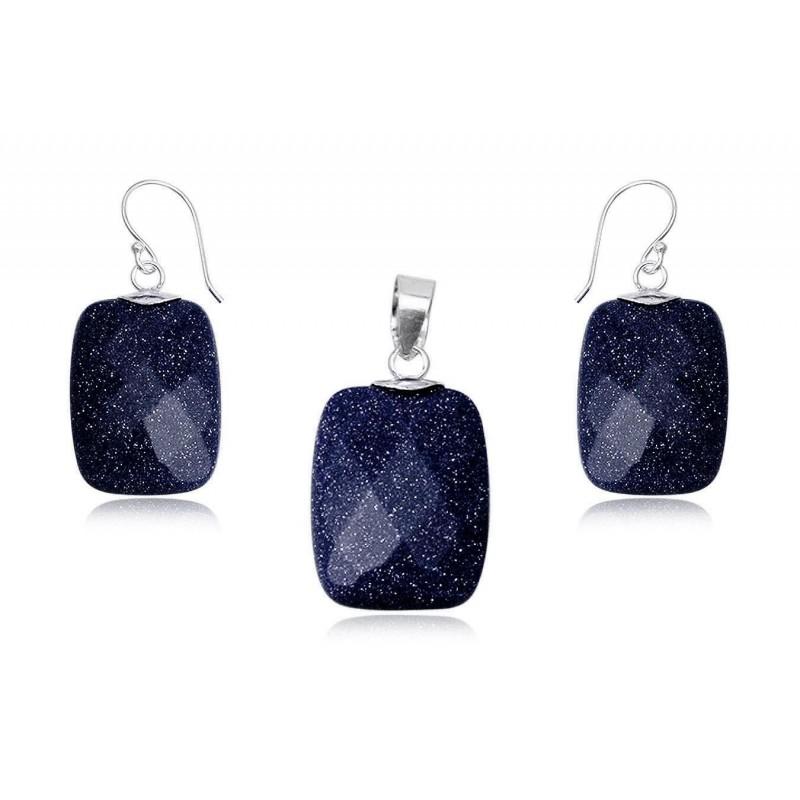 Pendentif en blue sand stone