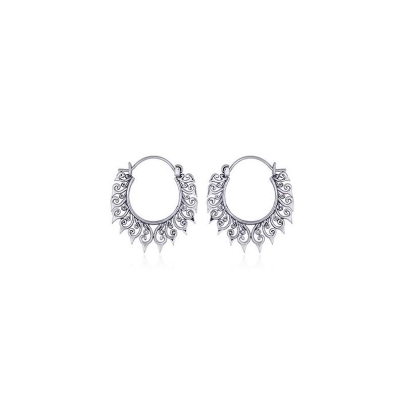 Boucles d'oreilles ronde style créoles balinaises