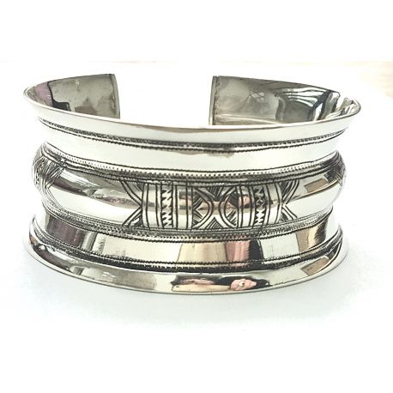 Bracelet manchette rigide touareg