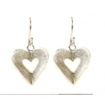 silver earrings with heart