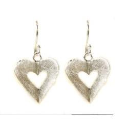 silver earrings with heart